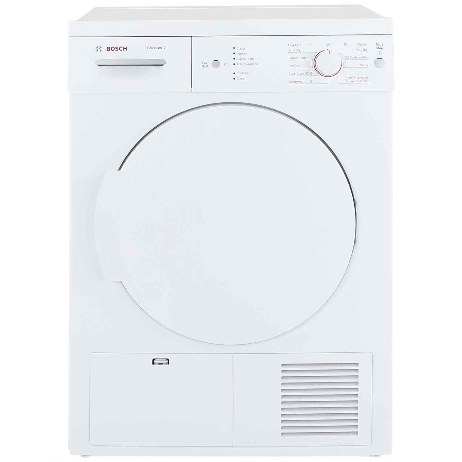 Bosch WTE84106GB 7kg Condenser Tumble Dryer - White - B Rated