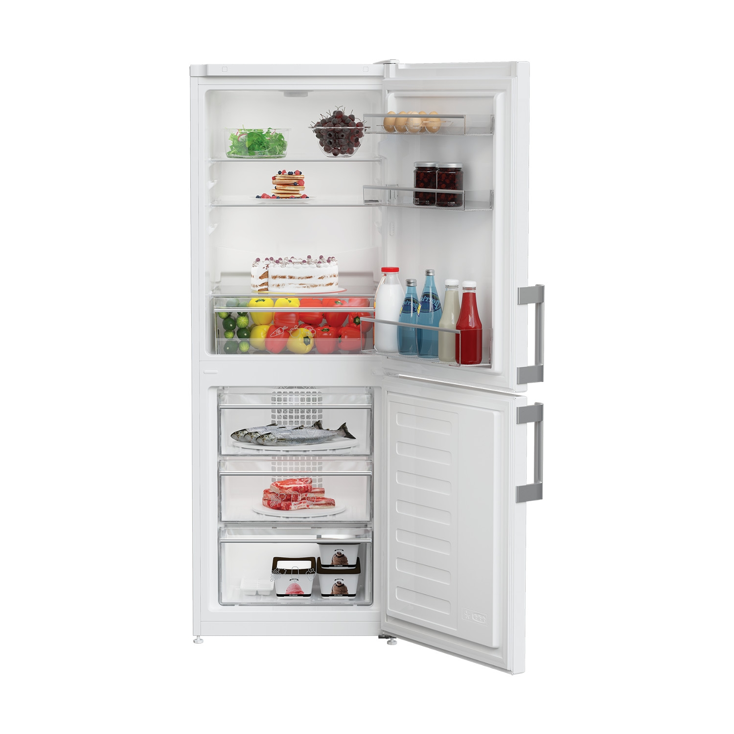 Blomberg KGM4530 55cm Frost Free Fridge Freezer - White - A+ Rated