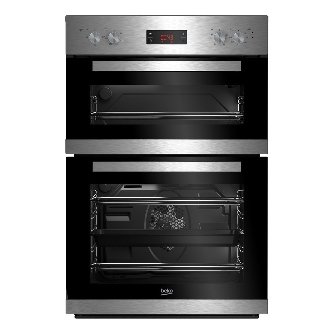 Beko CDF22309X Built In Electric Double Oven - Stainless Steel - A/A Rated
