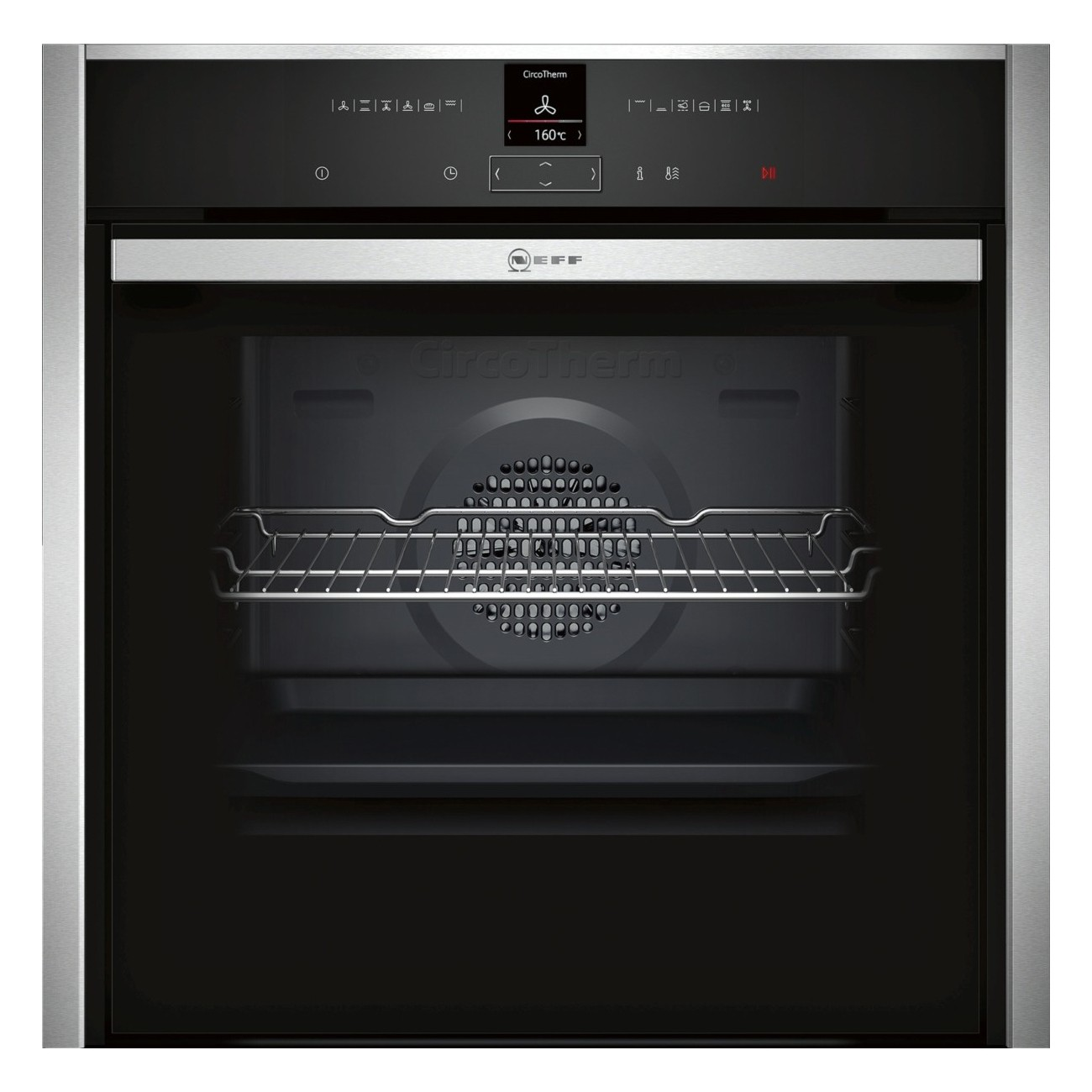 Neff B57CR23N0B Pyrolytic SLIDE&HIDE® Built In Electric Single Oven - Stainless Steel - A+ Rated