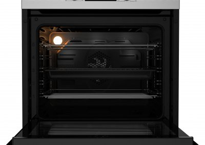 Beko CIF81X Built In Programmable Multifunction Electric Single Oven - Stainless Steel - A Rated