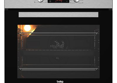 Beko CIM81X Built In Programmable Multifunction Electric Single Oven - Stainless Steel - A Rated