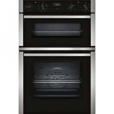 Neff U1ACE2HN0B Built In Double Electric Oven - Stainless Steel - A Rated