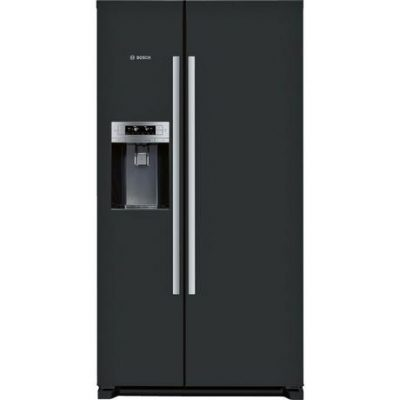 Bosch KAD90VB20G Ice & Water American Style Fridge Freezer - Black