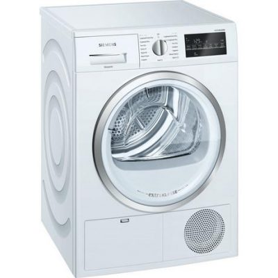 Siemens extraKlasse WT46G491GB iQ500 9kg Condenser Tumble Dryer - White - B Rated