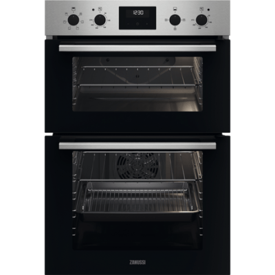 Zanussi ZKCXL3X1 Built In Electric Double Oven - Stainless Steel