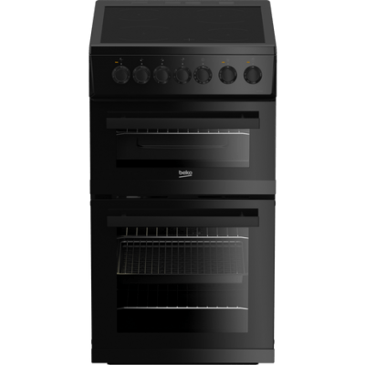 Beko EDVC503B 50cm Electric Double Oven with Ceramic Hob - Black